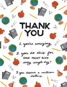 Teacher Thank You (From Parent) Greeting Card