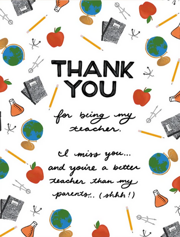 Teacher Thank You (From Student) Greeting Card