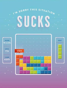 Tetris Sorry Greeting Card