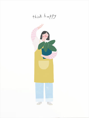 Think Happy Greeting Card
