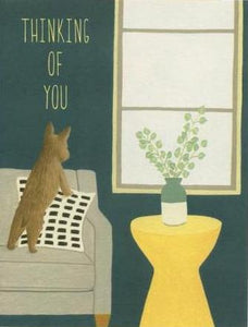 Thinking Of You Cat Greeting Card