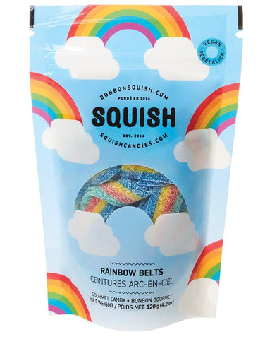 Vegan Rainbow Belts Squish Candy
