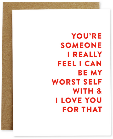 Worst Self Greeting Card