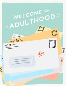 Adulthood Bills - Slightly Stationery Greeting Card - Ottawa, Canada