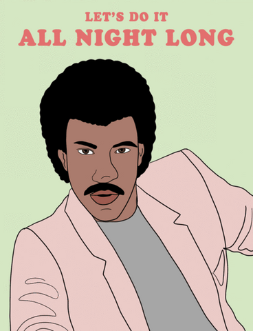 Lionel Richie All Night Long - Party Mountain Paper Greeting Card - Ottawa, Canada