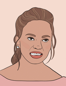 Chrissy Teigen - Party Mountain Paper Greeting Card - Ottawa, Canada