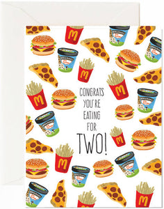 Eating For Two Greeting Card