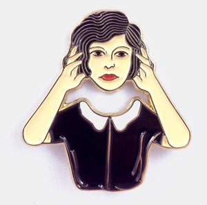 Floating Head Enamel Pin