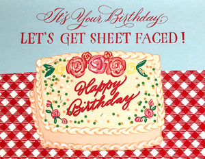 Sheet Faced Greeting Card