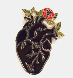 Black Heart Enamel Pin