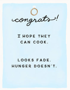 Hope They Can Cook - Slightly Stationery Greeting Card - Ottawa, Canada