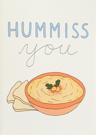 Hummiss You - Fineasslines Greeting Card - Ottawa, Canada
