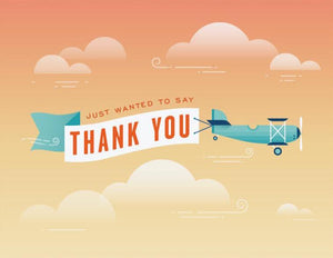 Plane Banner Thank You Greeting Card
