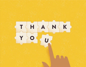 Jigsaw Thank You Greeting Card