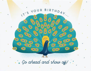 Peacock Birthday Greeting Card