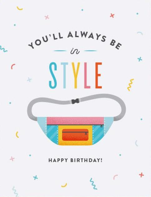 Fanny Pack Birthday Greeting Card