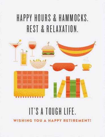 Happy Hours Retirement Greeting Card