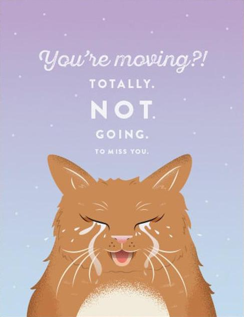 Wailing Cat Greeting Card