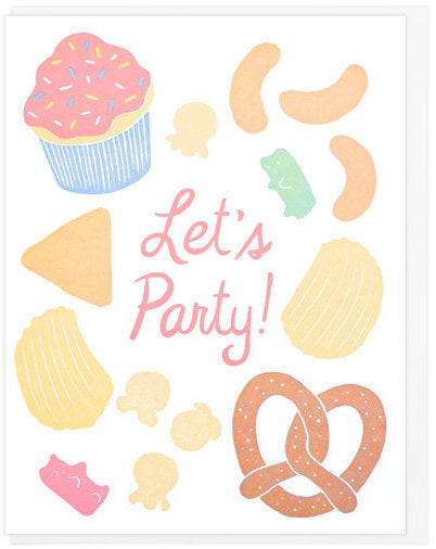 Party Snacks Greeting Card