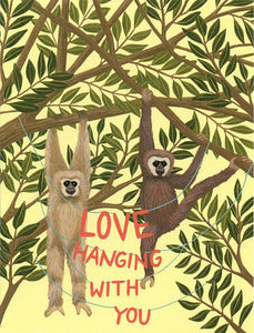 Love Hanging With You Greeting Card