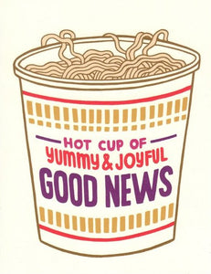 Betty Turbo Greeting Card - Hot Cup of Good News