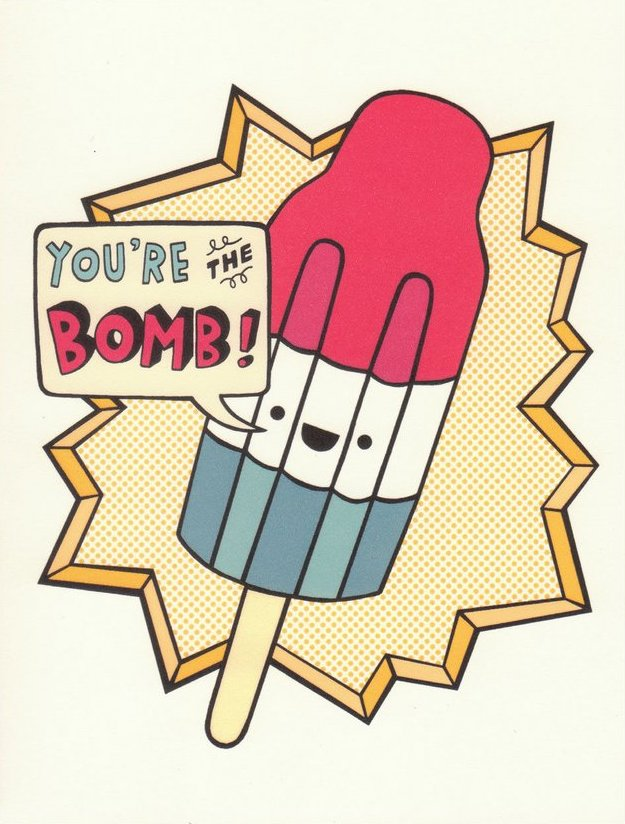 You're the Bomb - Betty Turbo Greeting Card - Ottawa, Canada