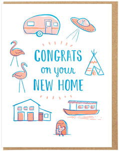 Lucky Horse Press Greeting Card - Congrats On Your New Home