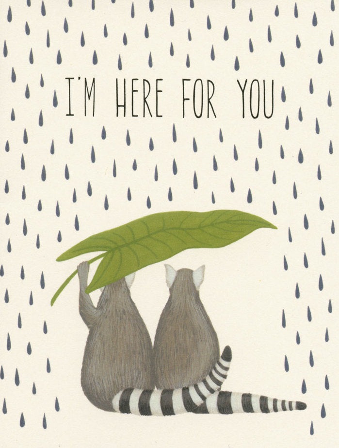 Yeppie Paper Greeting Card - Lemurs Sympathy