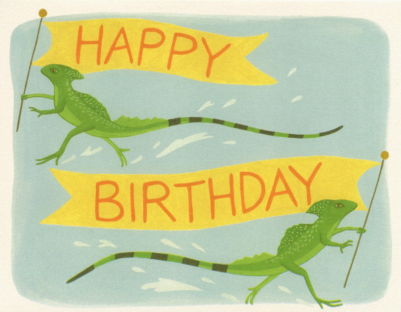 Running Lizards - Yeppie Paper Greeting Card - Ottawa, Canada
