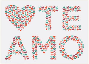 LoveLight Paper Greeting Card - Te Amo