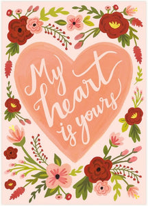 LoveLight Paper Greeting Card - My Heart Is Yours