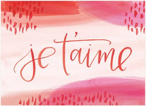 LoveLight Paper Greeting Card - Je T'aime