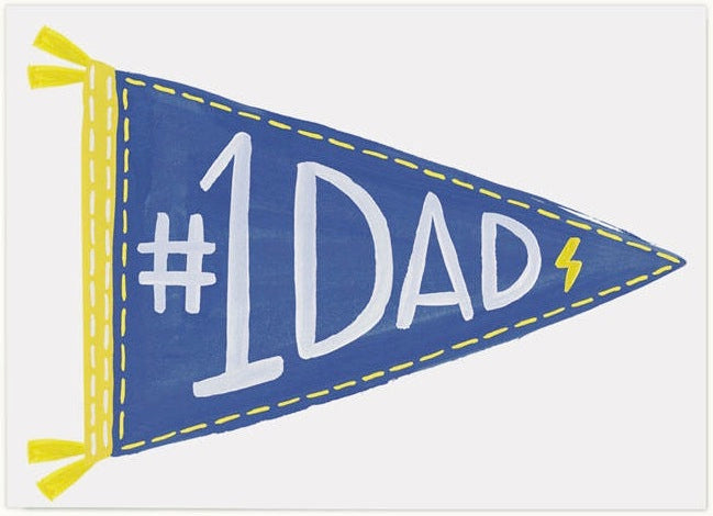 #1 Dad Flag Greeting Card