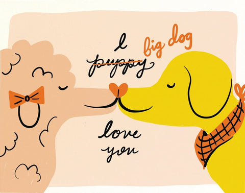 Little Low Greeting Card - Big Dog Love