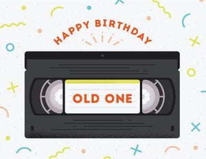 Old One VHS - Quirky Paper Greeting Card - Ottawa, Canada