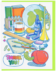 Lucky Horse Press Greeting Card - Thank You School Supplies