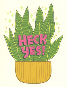 Heck Yes - Betty Turbo Greeting Card - Ottawa, Canada