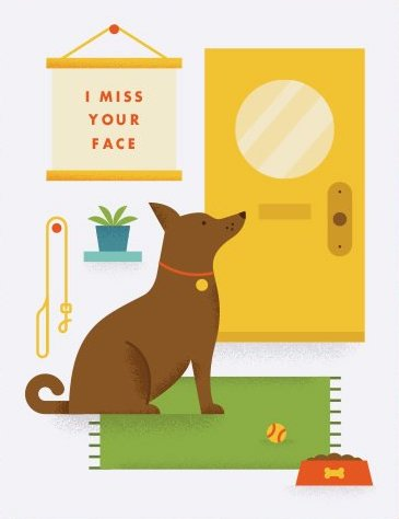 Miss Your Face - Quirky Paper Greeting Card - Ottawa, Canada