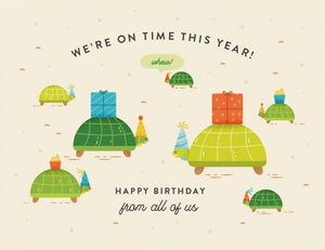 On Time Turtles - Quirky Paper Greeting Card - Ottawa, Canada
