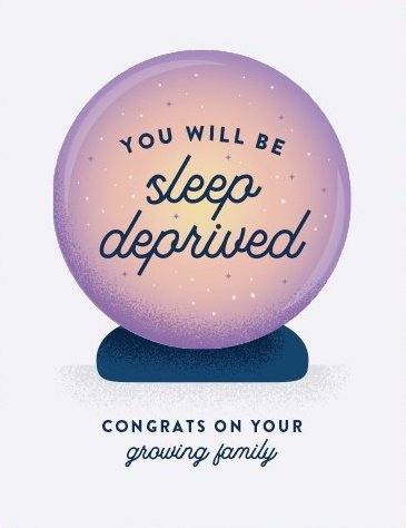 Sleep Deprived - Quirky Paper Greeting Card - Ottawa, Canada