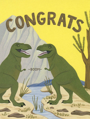 T-Rex Congrats - Yeppie Paper Greeting Card - Ottawa, Canada