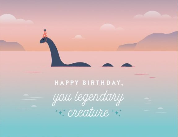 Lochness Birthday - Quirky Paper Greeting Card - Ottawa, Canada