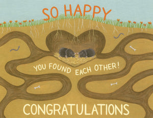 Moles Wedding - Yeppie Paper Greeting Card - Ottawa, Canada