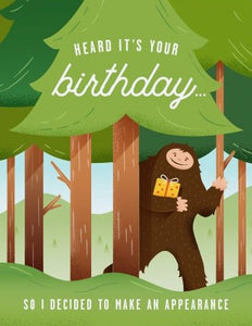 Bigfoot Appearance - Quirky Paper Greeting Card - Ottawa, Canada
