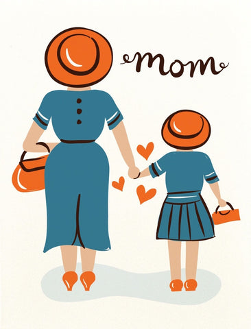 Mom and Daughter Greeting Card