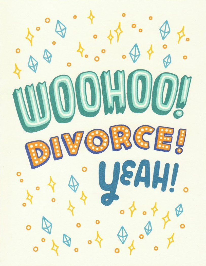 Woohoo Divorce - Betty Turbo Greeting Card - Ottawa, Canada