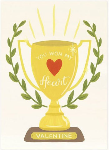 Heart Trophy Greeting Card