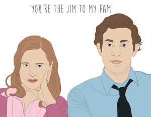 Jim To My Pam - Party Mountain Paper Greeting Card - Ottawa, Canada