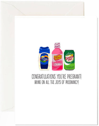 Joys Of Pregnancy Greeting Card