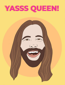 JVN Yas Queen - Party Mountain Paper Greeting Card - Ottawa, Canada